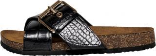 ONLY Dámské pantofle ONLMATHILDA PU CROC SLIP ON Black W. CROCK 37
