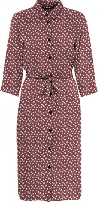 ONLY Dámské šaty ONLNOVA LONG SHIRT DRESS AOP WVN Apple Butter SPRING DOT 42