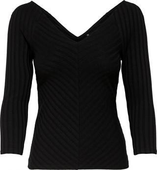 ONLY Dámské triko ONLGINA 3/4 V-NECK TOP JRS Black XL