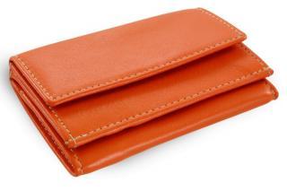 Oranžová kožená dámská menší peněženka Adrien