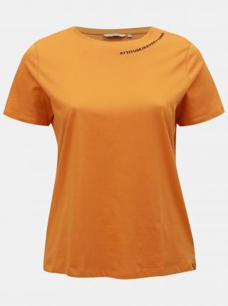 Oranžové tričko ONLY CARMAKOMA Daggie