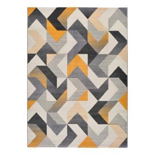 Oranžovo-šedý koberec Universal Gladys Abstract, 160 x 230 cm