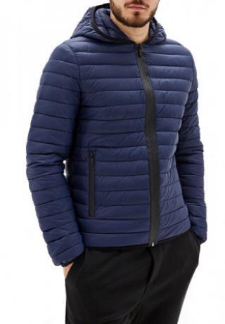 Pánská bunda Hoodie Zip Slim Fit Matt 52S00329-U290 Navy Blue - velikost 48,