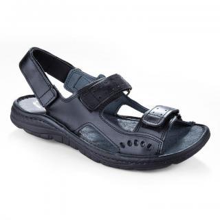 Pánské celokožené sandále černé vel. 46