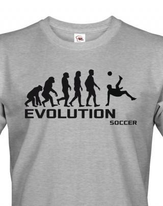 Pánské tričko evoluce fotbalu - ideální dárek pro fotbalistu