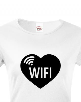 Párová trička s potiskem Dont steal my WIFI a WIFI
