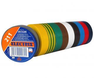 Páska izolační PVC 15mm/10m - zelenožlutá