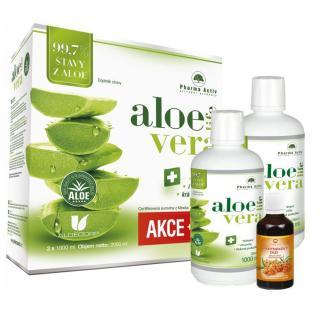 PHARMA ACTIV Aloe Vera Live 1 1 1000 ml   100% Rakytníkový olej 50 ml