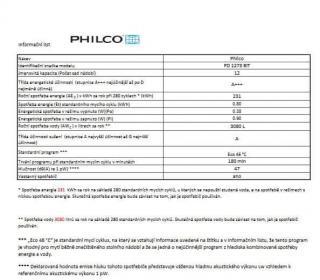 Philco PD 1273 BIT   bezplatný servis 36 měsíců - použité