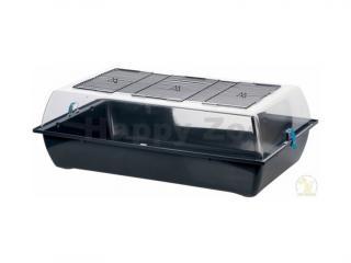 Plastový box pro hlodavce ZOLUX Indoor Vision XL černý/modrý 25x