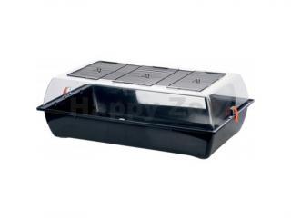 Plastový box pro hlodavce ZOLUX Indoor Vision XL černý/oranžový