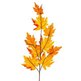 Podzimní větvička s oranžovými listy javoru, 70 cm