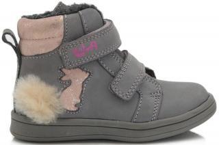 Ponte 20 dívčí zimní boty 24 šedá - zánovní