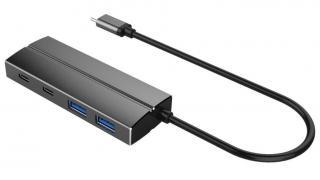 PremiumCord 10G SuperSpeed USB Hub Type C to 2× USB 3.1 A   2× USB 3.1 C, aluminum ku31hub07 - zánovní