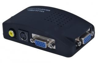 PremiumCord Převodník kompozitního signálu s-video/cinch na VGA signál  a-9 - rozbaleno