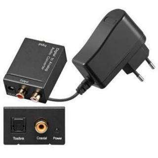 Převodník z analogového signálu 2xCINCH na digitální SPDIF a optický Toslink