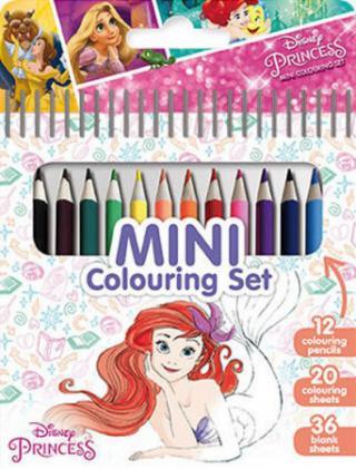 Princezny - Mini set s pastelkami