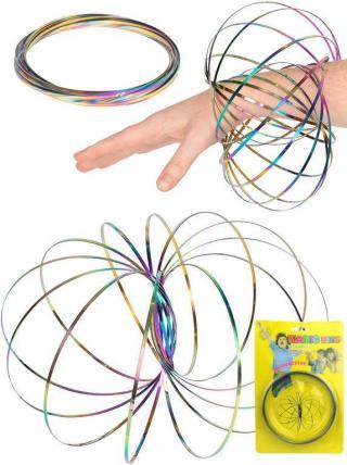 Pružina spirála magická metalická MAGIC RING magické kruhy kov FLOW RINGS