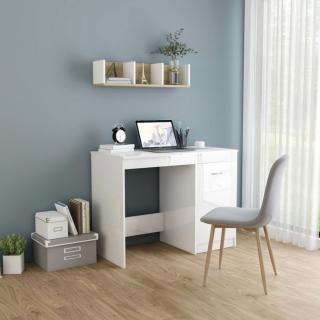 Psací stůl 100x50 cm Dekorhome Bílá lesk