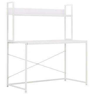 Psací stůl 120x60 cm s policí Dekorhome Bílá