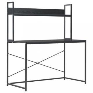 Psací stůl 120x60 cm s policí Dekorhome Černá