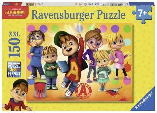 Puzzle Alvin a jeho přátelé 150 dílků