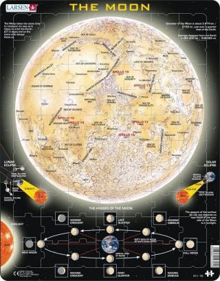Puzzle Měsíc - mapa 70 dílků