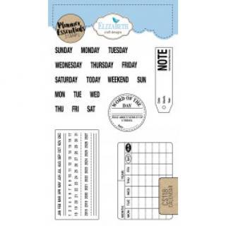 Razítka - Calendar - Elizabeth Craft Design  7203