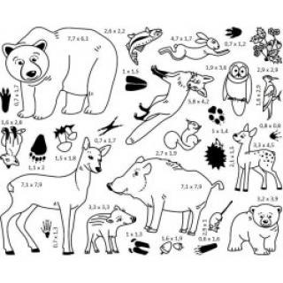 Razítka - Lesní zvířátka - Razítka s příběhem StampoMinos  6009