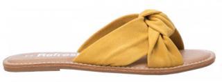 Refresh Dámské pantofle Yellow Microfiber Ladies Sandals 69687 Yellow - Velikost 39