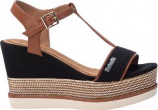 Refresh Dámské sandále Black Pu Combined Ladies Sandals 69580 Black - Velikost 40
