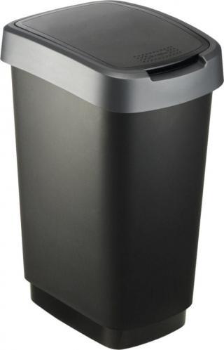Rotho Odpadkový koš Twist 25 l šedá - zánovní