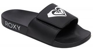 Roxy Dámské pantofle Slippy Slide IV Black/White ARJL100856-BKW 38