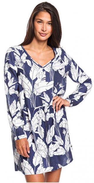 Roxy Dámské šaty Indigo Night Mood Indigo Flying Flowers ERJWD03413-BSP7 XL