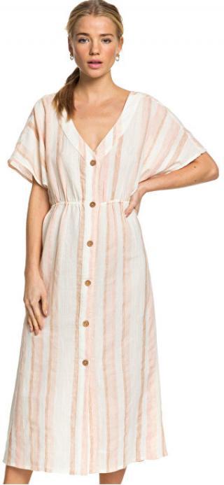 Roxy Dámské šaty Joyful Noise Ivory Cream Nam Nam Stripes ERJWD03419-TFM3 L