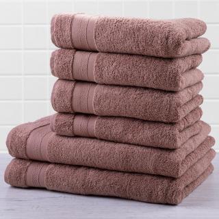 Sada froté ručníků a osušek MEXICO hnědá 6 ks