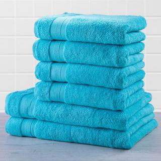 Sada froté ručníků a osušek MEXICO světle modrá 6 ks