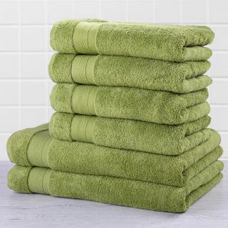 Sada froté ručníků a osušek MEXICO zelená 6 ks