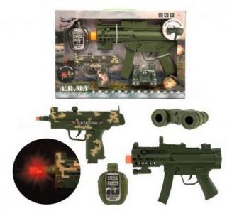 Sada pistole 2ks   doplňky plast na baterie se zvukem se světlem…