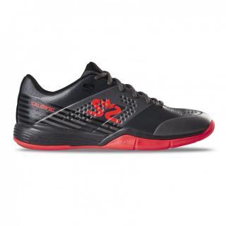 SALMING Viper 5 Men Shoe GunMetal/Red 11 UK - 46 2/3 EUR - 30 cm / Černá/červená