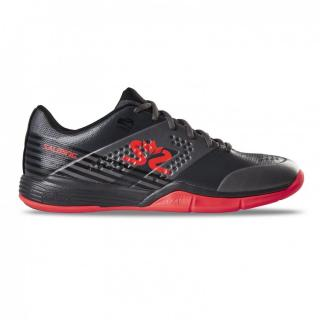 SALMING Viper 5 Men Shoe GunMetal/Red 12 UK - 48 EUR - 31 cm / Černá/červená