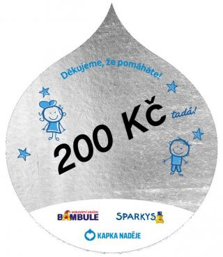 Samolepka Kapka naděje stříbrná 200 kč
