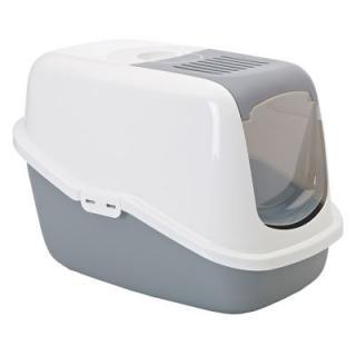 Savic kočičí toaleta Nestor za skvělou cenu! - Nestor Jumbo: vínová/ bílá