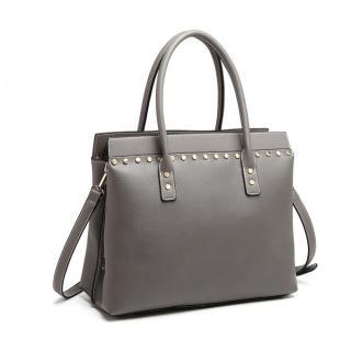 Šedá dámská luxusní kabelka do ruky i přes rameno Abadon