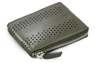 Šedá kožená zipová peněženka Charlee