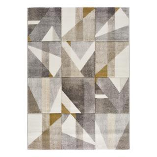 Šedo-žlutý koberec Bianca Dice, 120 x 170 cm