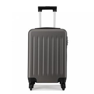 Šedý cestovní velmi kvalitní prostorný kufr Bartie