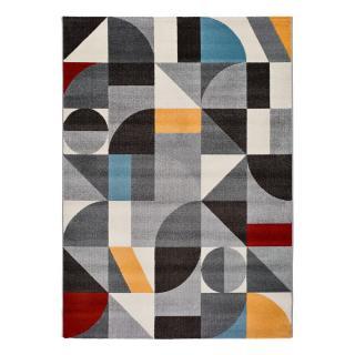 Šedý koberec Universal Delta Multi, 133 x 190 cm