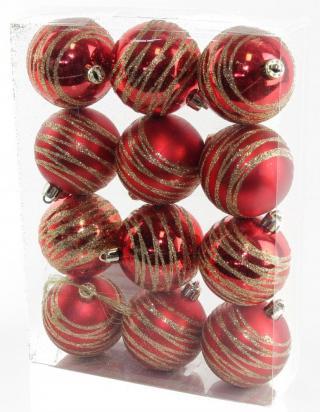 Seizis Koule s dekorem červené 12 ks - zánovní