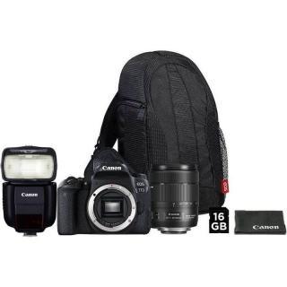 Set Canon EOS 77D   18-135 IS USM   VUK   blesk 430EX III-RT